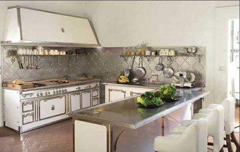 Küchenrückwand edelstahl optik und mit edelstahl ...