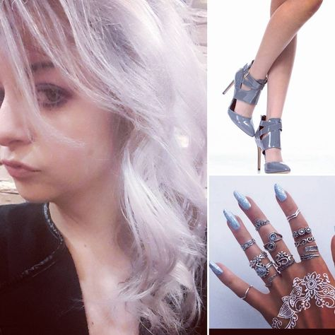 followforfollow #chromehair #chromenails...