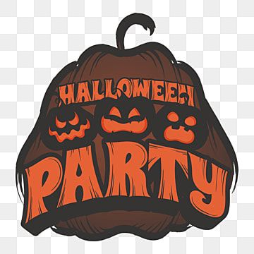 Halloween Party With Three Pumpkin Party Holiday Halloween Png And Vector With Transparent Background For Free Download Halloween Vector Pumpkin Illustration Halloween Halloween Party Flyer