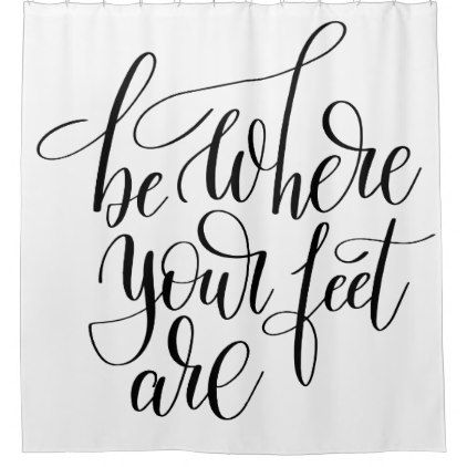 Simply Motivation Positive Black Ink Quote Shower Curtain Zazzle