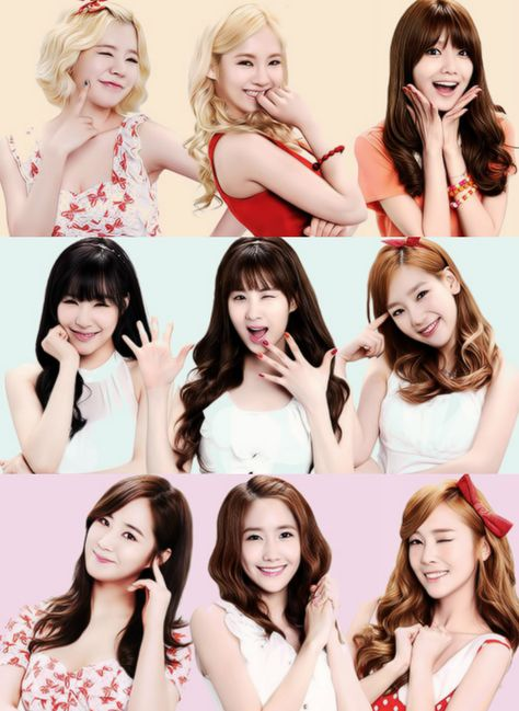 As you can see, with have the 3 families(In my opinion anyway) │HyoSooSun(L-R: Sunny. Hyoyeon. Sooyoung) │ SeoTaeNy/TaeTiSeo(L-R: Tiffany. Seohyun. Taeyeon) │ YoonYulsic(L-R: Yuri. Yoona. Jessica)