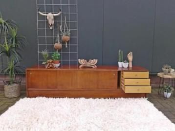 Tv Meubel Kast.Dressoir 2 M Vintage Design Lowboard Retro Tv Meubel Kast 60