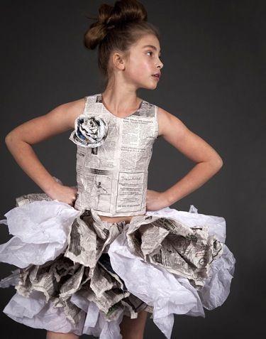 Newspaper Dress by Dani Brubaker