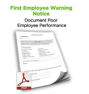 First Employee Warning Notice Free Hr Tool Discipline