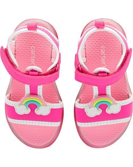 Carter's Rainbow Light-Up Sandals | Toddler girl shoes, Shop kids ...