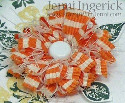 Shabby ribbon flower tutorial