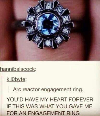 Arc reactor engagement ring omg please Wedding Pinterest Arc