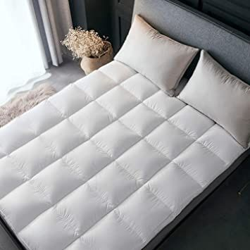 Miss Amp Yg Luxurious Down Mattress Pads 8cm Thick Cotton Cover Down Filling With Elastic Straps Dow Queen Mattress Topper Queen Mattress Comfort Mattress