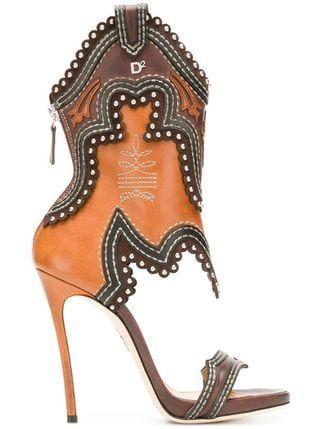 65a3af378bcb2 Dsquared2 Cowboy boot sandals | shoes in 2019 | Boots, Designer ...