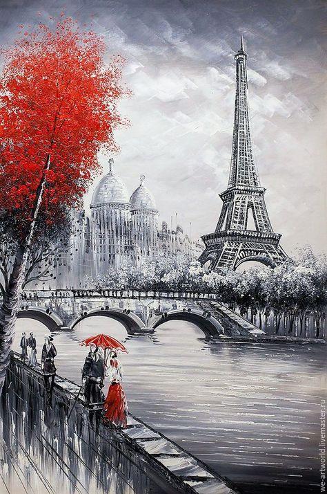 Купить или заказать Париж. Вид на Эйфелеву б... - #б #Вид #заказать #или #Купить #на #Париж #Эйфелеву