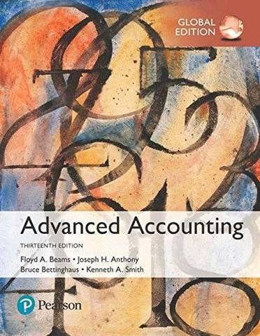 Advanced Accounting 13th Global Edition By Floyd Beams 9781292214627
