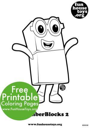 Numberblocks Two Printable Free Printable Coloring Pages Coloring Pages Printables