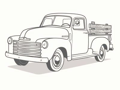 - Classic Truck Coloring Pages New Truck Illustration Illustration Truck  Coloring Pages, Truck Crafts, Christmas Red Truck