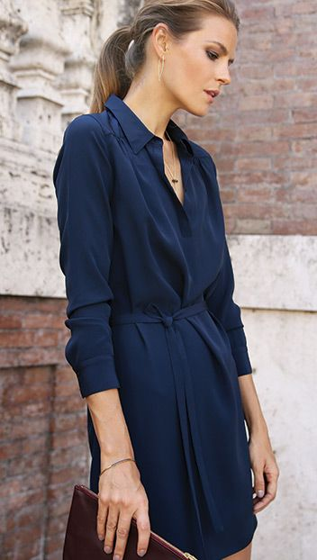 Slip into our silk dress for instant poise. Made in the U.S. from ...