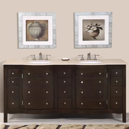 Hyp 0704 Cm Uwc 72 72 Double Sink Cabinet With 12 Drawers 4 Doors Crema Marfil Marble Top And In 2019 Bathroom Sink Vanity Double Sink Bathroom Bathroom Vanity Cabinets