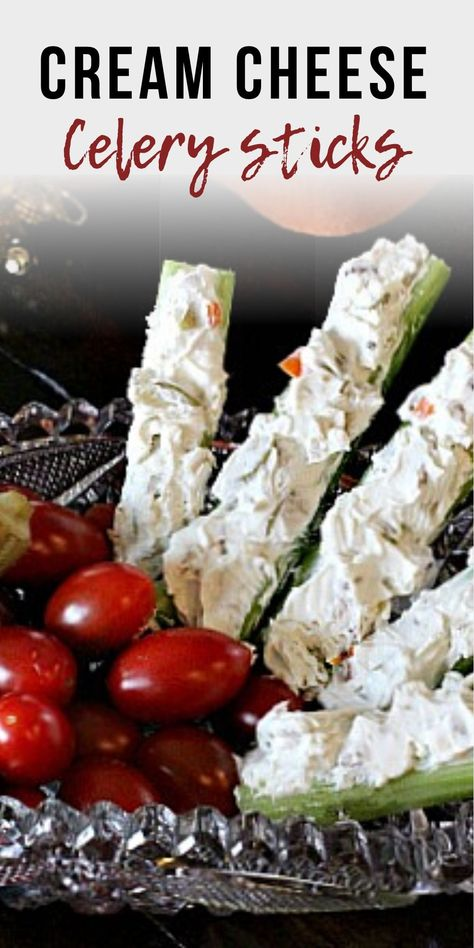 Perfect stuffed celery appetizer recipe. Celery is the perfect vessel for a mixture of cream cheese and chopped olives. Throw in some crunchy walnuts and blue cheese and you've got an appetizer full of memories. A popular appetizer for any party or holiday buffet. #stuffed #withcreamcheese #party #appetizers #recipes