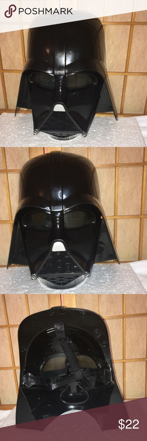SW Darth Vader Electronic Voice Helmet Mask Hasbro 2014 Star Wars Darth Vader Electronic Voice Changing Helmet Mask Hasbro Preowned  Has some marks on  helmet's top, please see pictures  Open to offers Hasbro Costumes Halloween