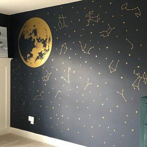 Zodiac Constellation Wall Decals Star Decals Zodiac Gift Wall