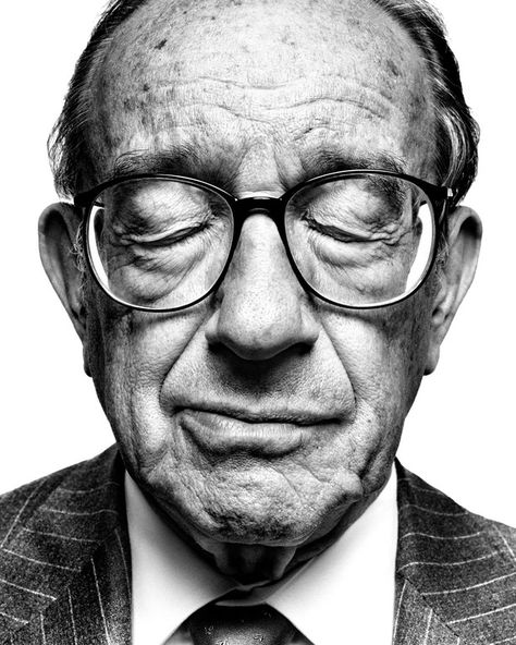 Alan Greenspan - shot by Platon
