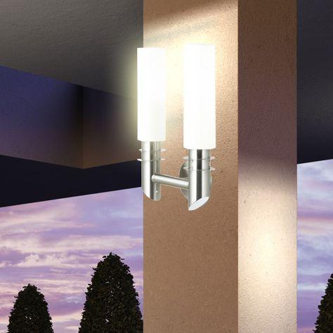 modern wand beleuchtung licht gartenmauer lampe terrasse haustür, Garten Ideen