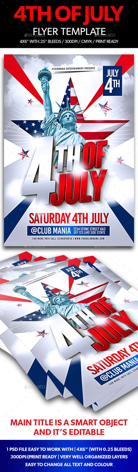 July 4 Event Flyer or Party Invitation Event flyers, Flyer - labour day flyer template