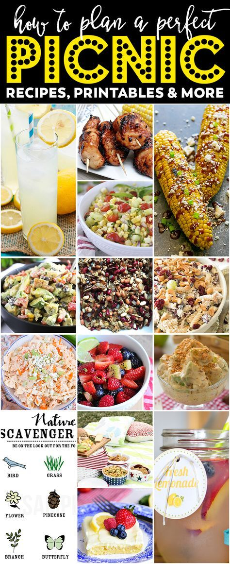 Best Ever Picnic Recipes Printables And Fun Ideas Recetas
