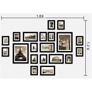 Home Decor Picture Frames Photo Wall Frame Set Collection Set Of 20 Fz 2020 Pictures Not Included Frames On Wall Wall Frame Set Family Wall Collage