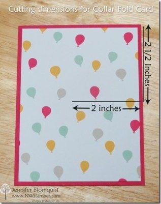 Bear Hugs Birthday Card With The Collar Fold Technique In 2020 Birthday Cards Fun Fold Cards Fancy Fold Cards