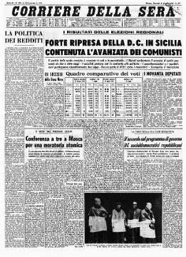 Archivio Corriere Della Sera Storia Contemporanea Fatti Della Storia Giornale D Epoca