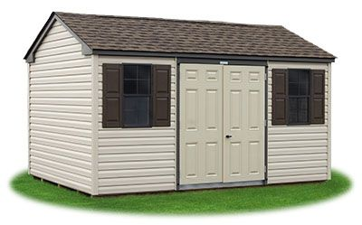 10x14 Vinyl Sided Side Entry Peak Storage Shed Available At Pine Creek Structures Shed Structures Vinyl Siding