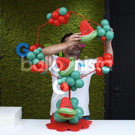 Birthday Balloon Decorations, Balloon Centerpieces, Diy Wedding Decorations, Birthday Balloons, Friend Birthday Gifts, Birthday Diy, Diy Garland, Balloon Bouquet, Latex Balloons