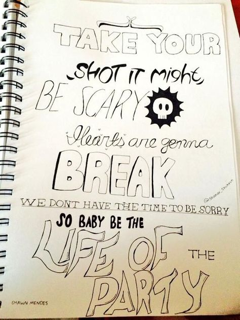 Image Result For Shawn Mendes Lyric Drawings Shawn Mendes Lyrics