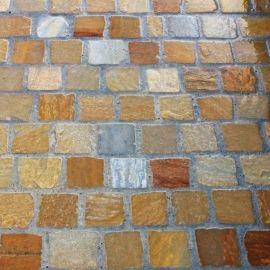 Pave Quartzite Jaune Vente En Ligne De Paves Sur Deco Granulats En 2020 Pave Granit Granit Gris Dallage