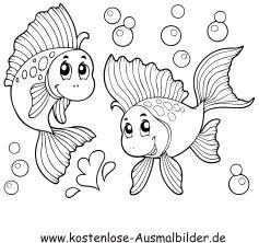 Ausmalbild Fische Im Wasser Ausdrucken Malvorlage Fisch Ausmalbilder Ausmalbilder Fische