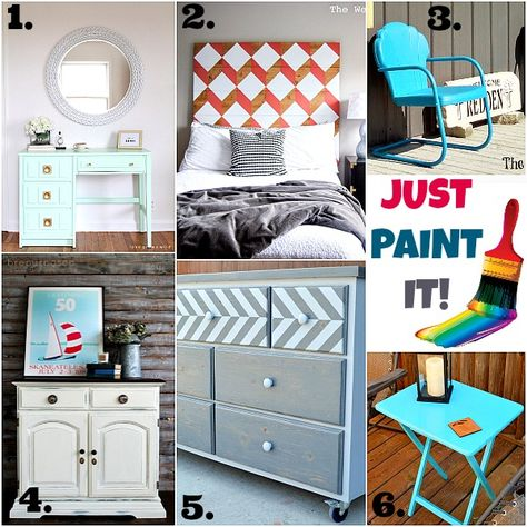 Painted Furniture Ideas & Inspiration Monday - Refresh Restyle