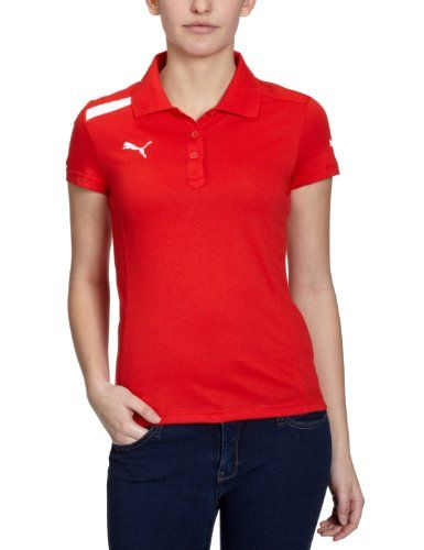 Puma Damen Polo Shirt Powercat 1 12 Puma Red White Xl 653043 01 Shirts Mens Tops Polo Shirt