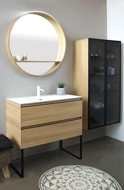 meuble de salle de bain placage bois