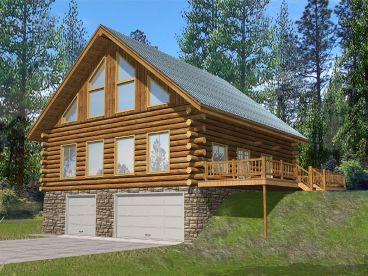 Log Garage Apartment 012g 0076 House Plans Pinterest Apartments And