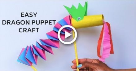 Easy Paper Dragon Craft With Accordion Folds Chinese New Year Craft Ideas For Kids Puppet Craft Craf Dragon Crafts Dragon Crafts Preschool Paper Dragon Craft