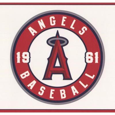 York Wallcoverings Los Angeles Angels MLB Baseball Team
