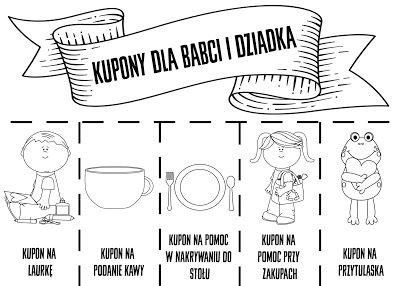 Dzieckiem Badz Kupony Dla Babci I Dziadka Childrens Worksheets Grandparents Day Baby Bee
