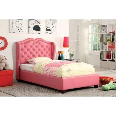 Marlon Upholstered Standard Bed Leather Upholstered Bed