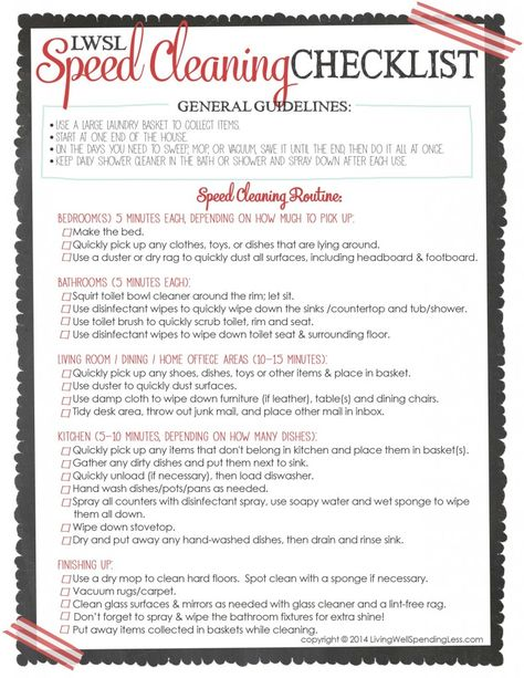 2 hour house cleaning checklist For the Home Pinterest House - sample house cleaning checklist