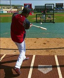 Right Fielder Carlos Beltran Takes Batting Practice During