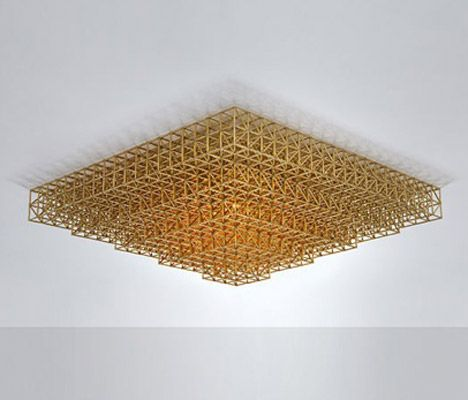 This lamp is made up of thousands of brass parts.