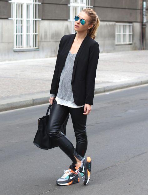 20 Looks fashionistas con tenis Nike Air Max | Chaqueta