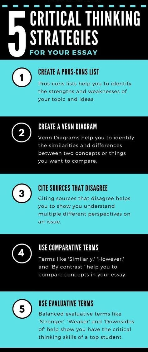 5 CRITICAL THINKING STRATEGIES FOR YOUR ESSAY