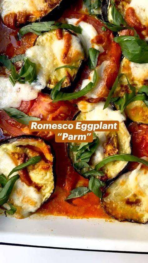 """Romesco Eggplant  """"Parm"""""""