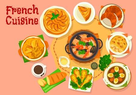 French Cuisine Popular National Dishes Icon Design National Dish French Cuisine Cuisine