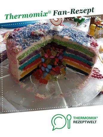 Gefullte Regenbogentorte Mit Smarties Rezept Regenbogentorte Regenbogentorte Mit Smarties Kuchen Und Torten Rezepte